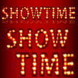 Theatrical Lights ShowtimeText — Stock Vector