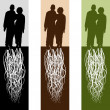 Married Couple — Imagen vectorial