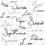 Zodiac Sign Calligraphy — Stock Vector #11576560