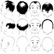 Asian Male Baldness Pattern — Stock Vector #11576562