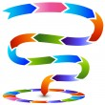 Winding Process Meets Circular Process Chart — Stock Vector