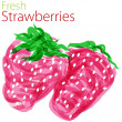 Fresh Strawberries — Stock Vector