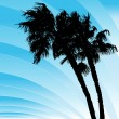 Windy Bending Palm Trees — Image vectorielle