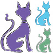Slinky Cat Profile - Stock Vector