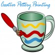 Creative Pottery Painting — Image vectorielle
