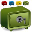 Combination Lock Safe Icon — Imagen vectorial