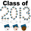 Class of 2013 Faces — Stock Vector