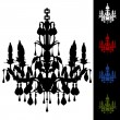 Elegant Chandelier - Stock Vector