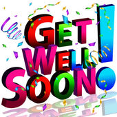 Get Well Soon Message — Stock Vector