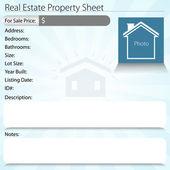 Real Estate Property Sheet — Stock Vector