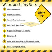 Workplace Safety Rules — Stock Vector