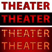 Theatrical Lights Theater Text — Stock Vector
