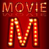 Theatrical Lights MovieText — Stock Vector