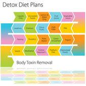排毒饮食计划图表 — 图库矢量图片