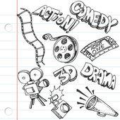 Cuaderno papel entretenimiento garabatos — Vector de stock