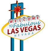 Welcome To Las Vegas Sign — Stock Vector
