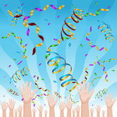 Celebración del confeti — Vector de stock