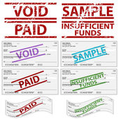 Stamped Personal Checks — Vettoriale Stock