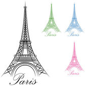 Paris Eiffel Tower Icon — Stock Vector
