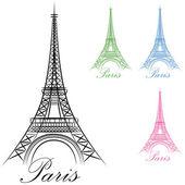 巴黎埃菲尔铁塔图标 — 图库矢量图片
