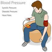 Blood Pressure Test — Stock Vector
