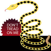 Dont Tread on Me Snake — Stock Vector