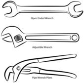 Wrench Type Set — Stock Vector