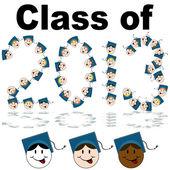 Class of 2013 Faces — Stock Vector