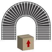 Conveyor Belt Icon Box — Stock Vector
