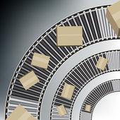 Arc Conveyor Belt Boxes — Stock Vector