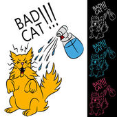 Bad Cat — Stock Vector