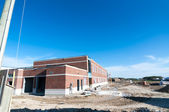 New School Building Under Construction — Stock Photo