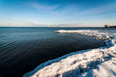 Lake ontario in de winter — Stockfoto