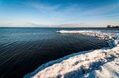 冬季在安大略湖 — 图库照片