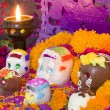 Mexican Day Of The Dead Altar - Stock Photo