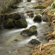 Waterway With Rocks Long Exposure — Stock Photo