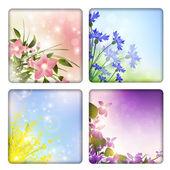 Coleção floral — Vetorial Stock