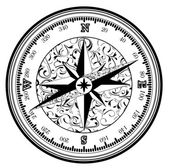 Vinatge antique compass — Stock Vector