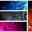 Royalty-Free Stock Vector Image: Butterfly floral banner collection