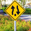 Stock Photo: Two way traffic sign