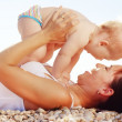 Woman and baby - Stock Photo
