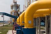 Gas compressor station — Stock Photo