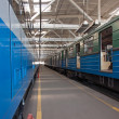 Subway train in depot — Stock Photo #11475228