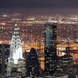 Chrysler Building in Manhattan New York City at night — Stock Photo
