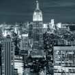 New york city manhattan skyline luchtfoto — Stockfoto