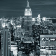 New Yorks manhattan skyline Flygfoto — Stockfoto