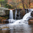Autumn Waterfall in mountain — Stock Photo