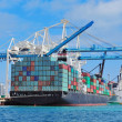 Cargo ship at Miami harbor — Stock Photo #11175291
