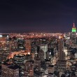 New york city manhattan skyline in de nacht — Stockfoto #11178310