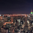 Foto de Stock  : New York City Manhattan skyline at night